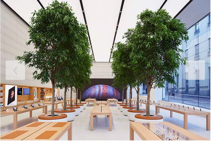 The Apple Retail Store in Brussels (pictured) was clearly a testing ground for these new ideas.