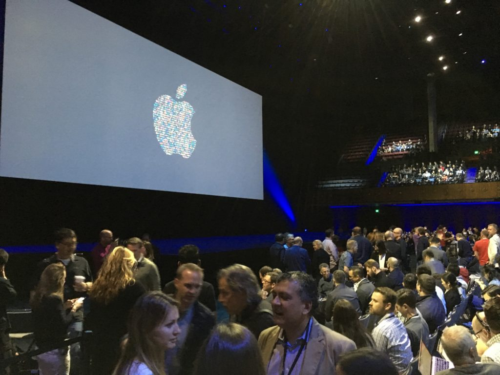 The hubbub before Apple's announcement took place was vibrant.