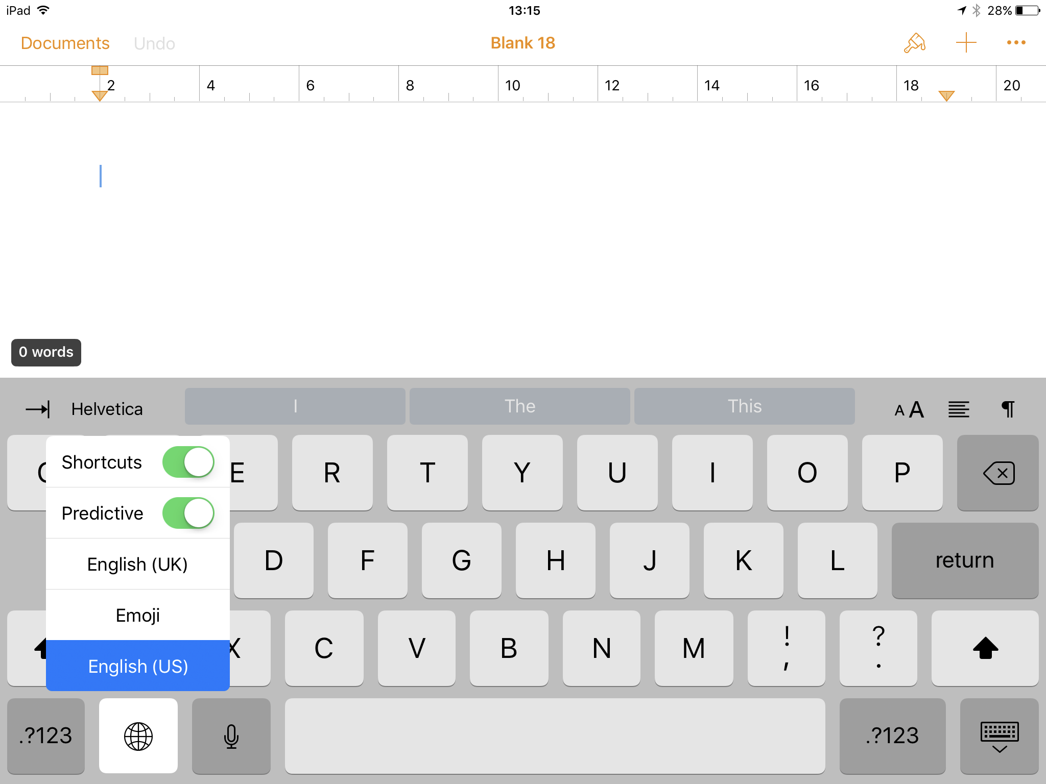 How to switch off iOS typing suggestions