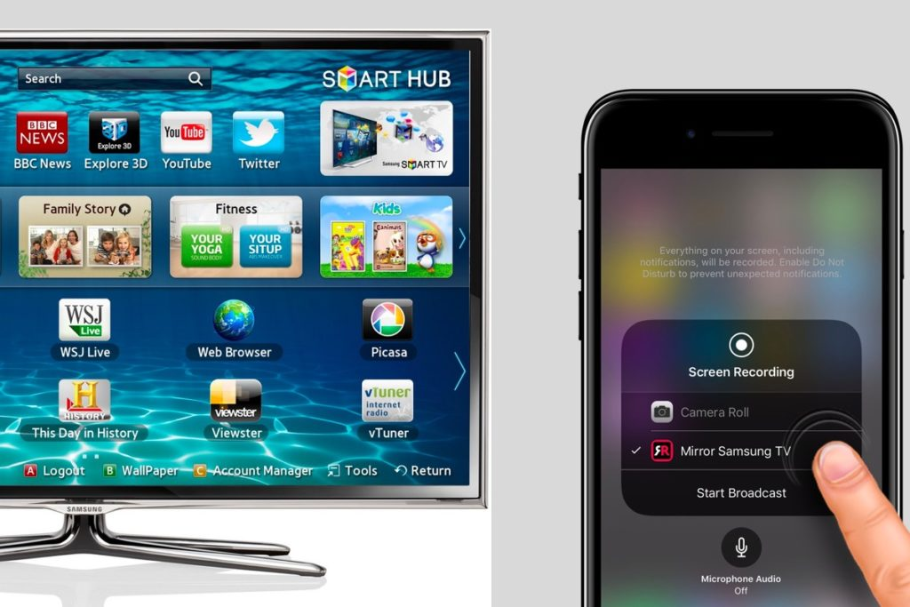 Can you stream iphone on samsung smart tv