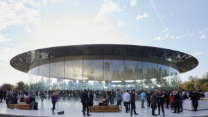 A picture of the Steve Jobs theater