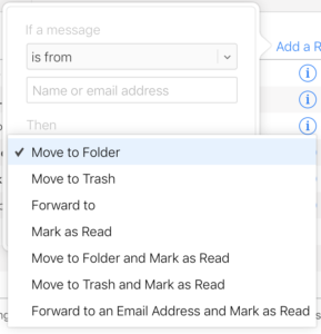 Rules in iCloud Mail