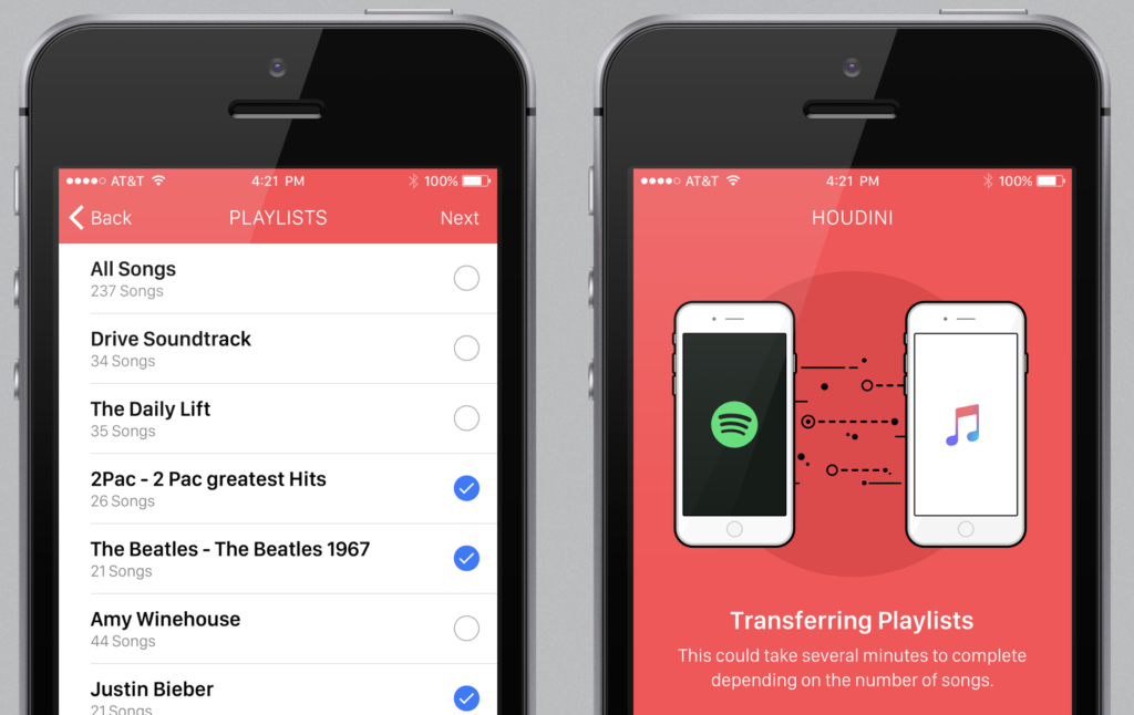 move Spotify playlists to Apple Music