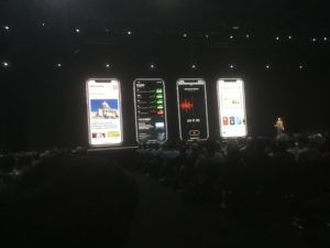 iOS 12 on phones at WWDC