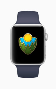 A picture of one of the new Apple Watch awards
