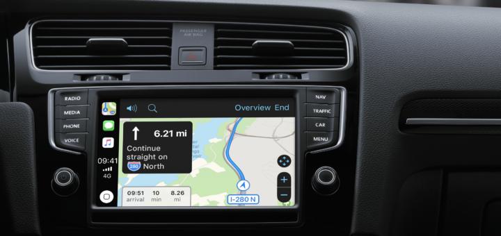 The CarPlay interface