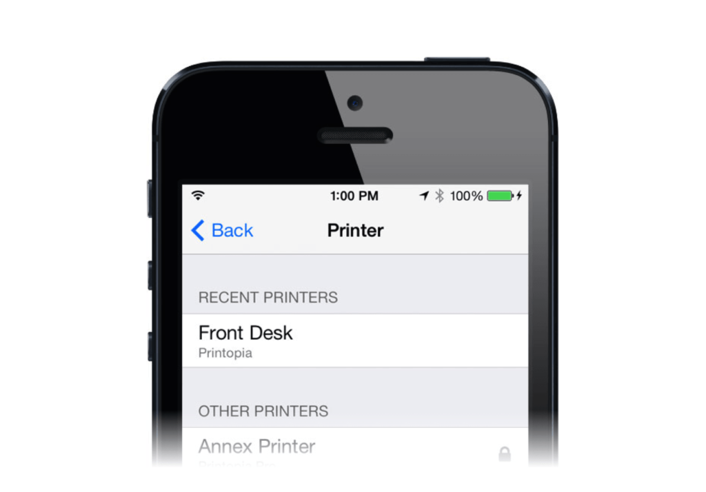 iOS to Mac printer app