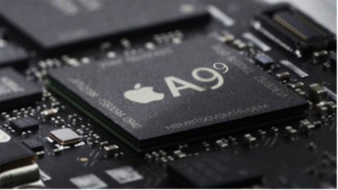 An image of the A series Apple processor chips