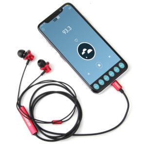 Headphones with a radio