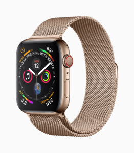 Apple Watch Series 4 in gold