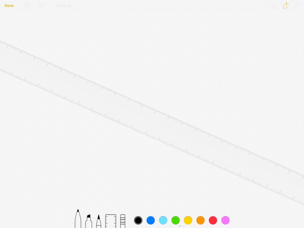 Ruler in iOS 12