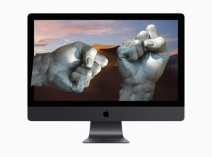 Two fists in a Mac