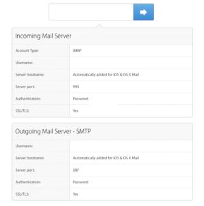 Apple's Mail Settings Lookup