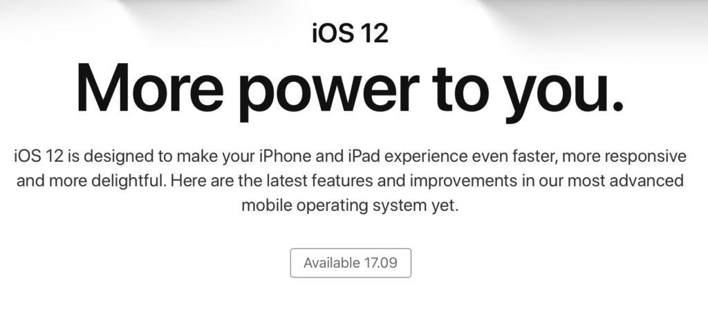 iOS 12 ship date