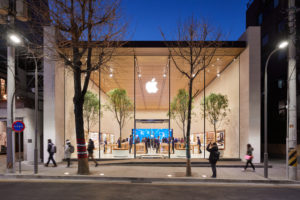 An image of an Apple store