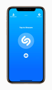 Shazam on iPhone