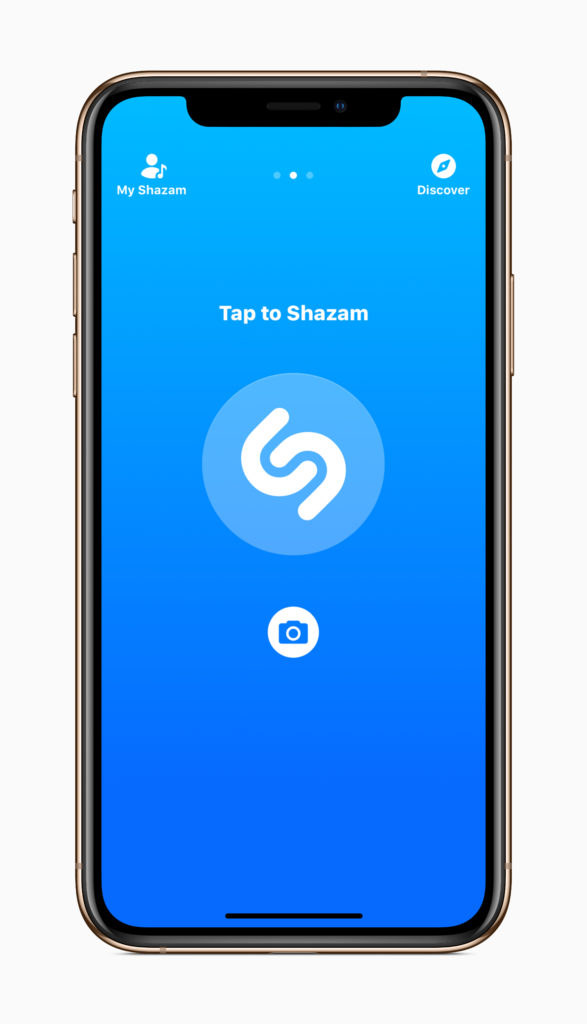 Shazam on iPhone