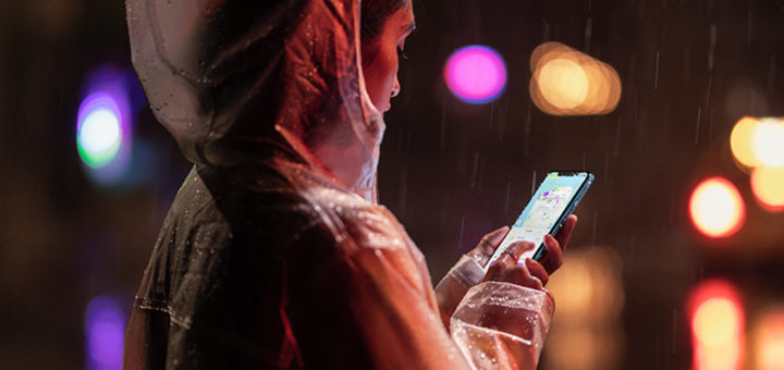 Girl with iPhone XR