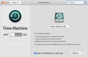 Time Machine Preferences