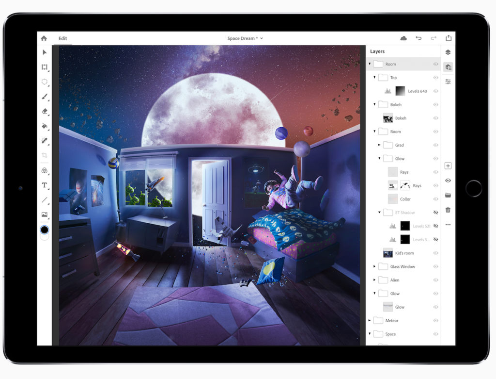 Full Photoshop for iPad in 2019
