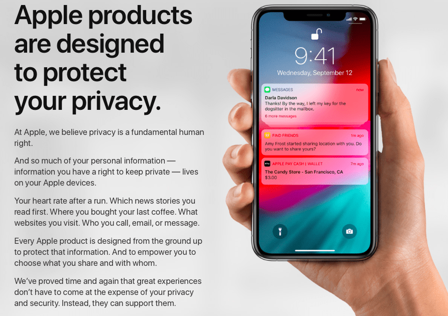 Privacy is important