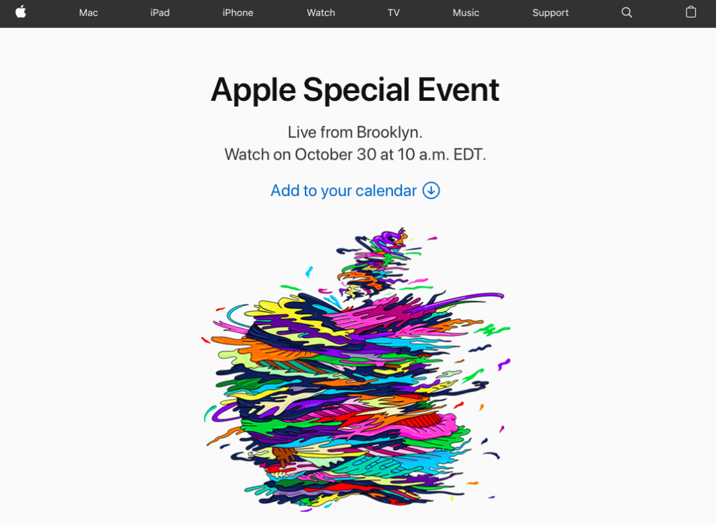 Apple event streaming
